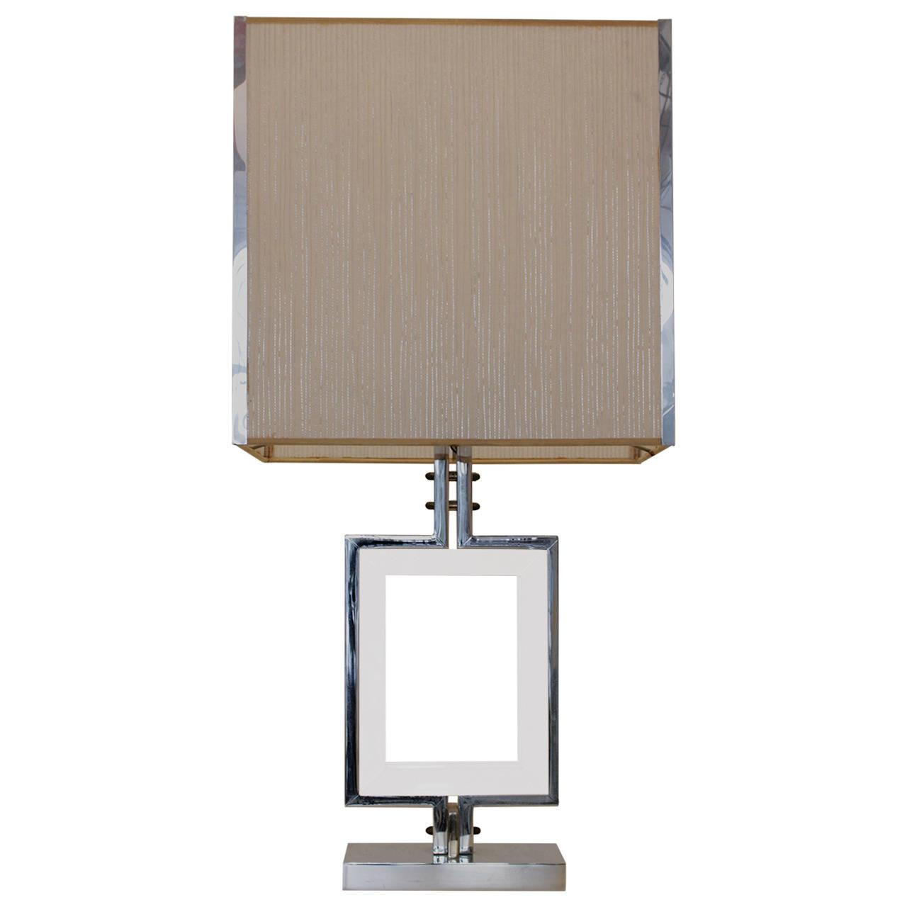 lampe de table willy rizzo attrib les illumin s design. Black Bedroom Furniture Sets. Home Design Ideas