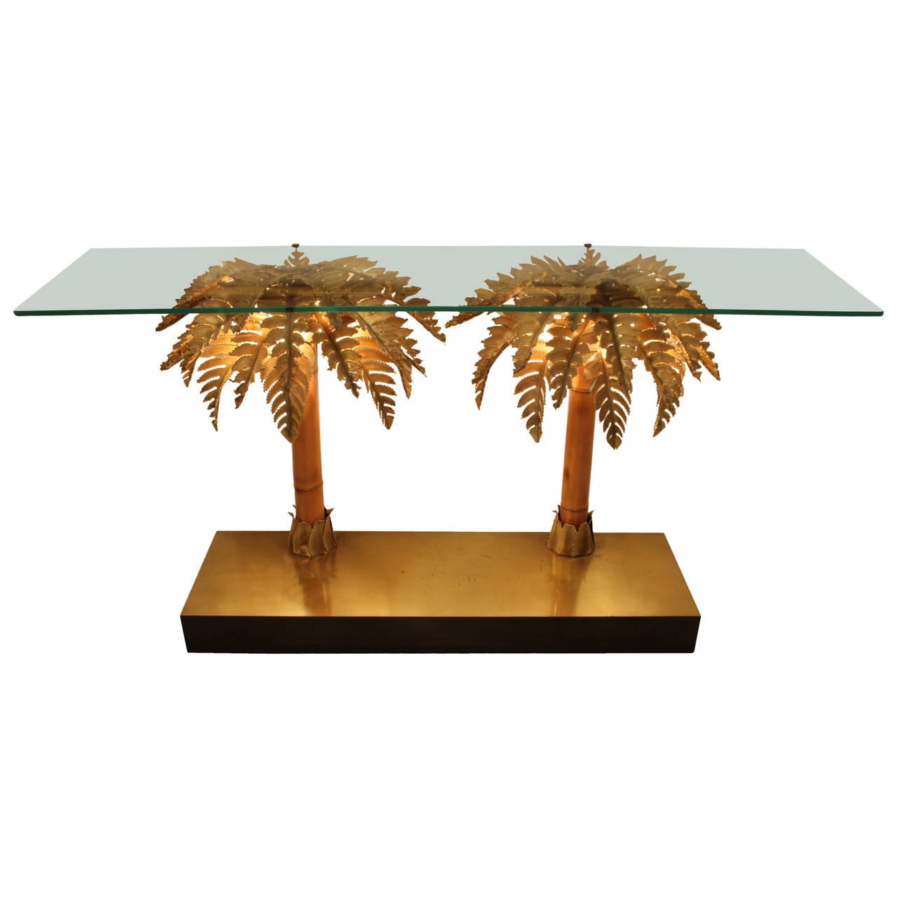 Console palmier