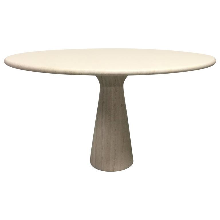 Table en travertin Angelo Mangiarotti