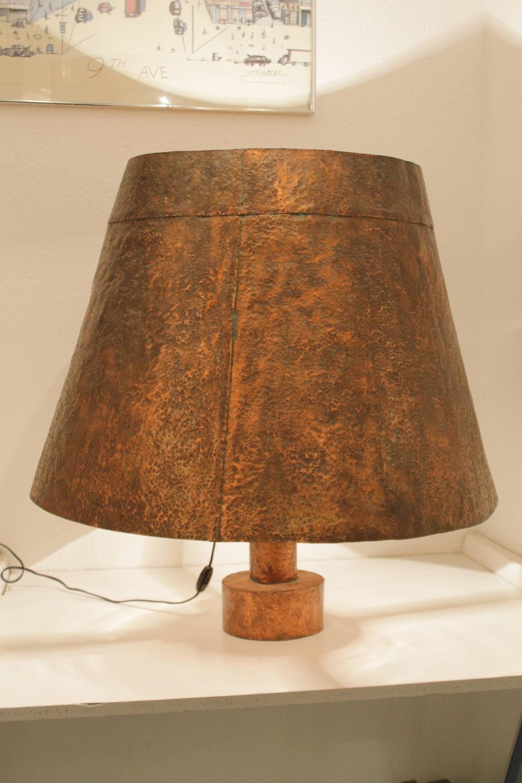 Grande lampe de table cuivre