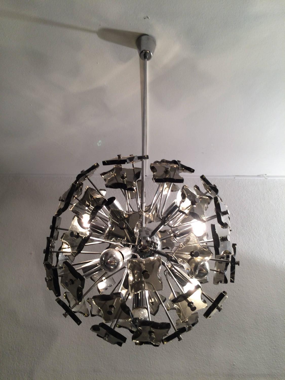 Lustre Sputnik d'après Fontana Arte