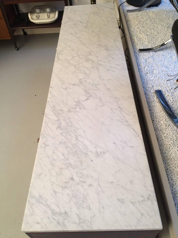 Buffet palissandre et marbre Florence Knoll