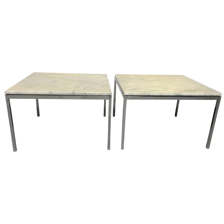Knoll 2 tables basses marbre
