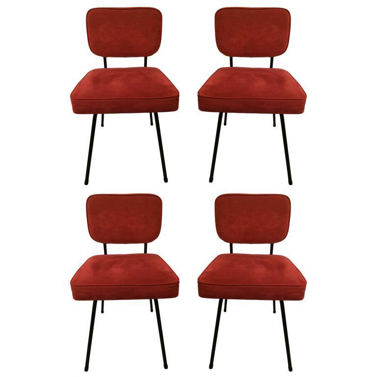 Andre Simard Lot de 4 chaises