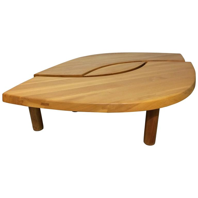 """Pierre Chapo Table basse """"Oeil"""" modèle T22"""