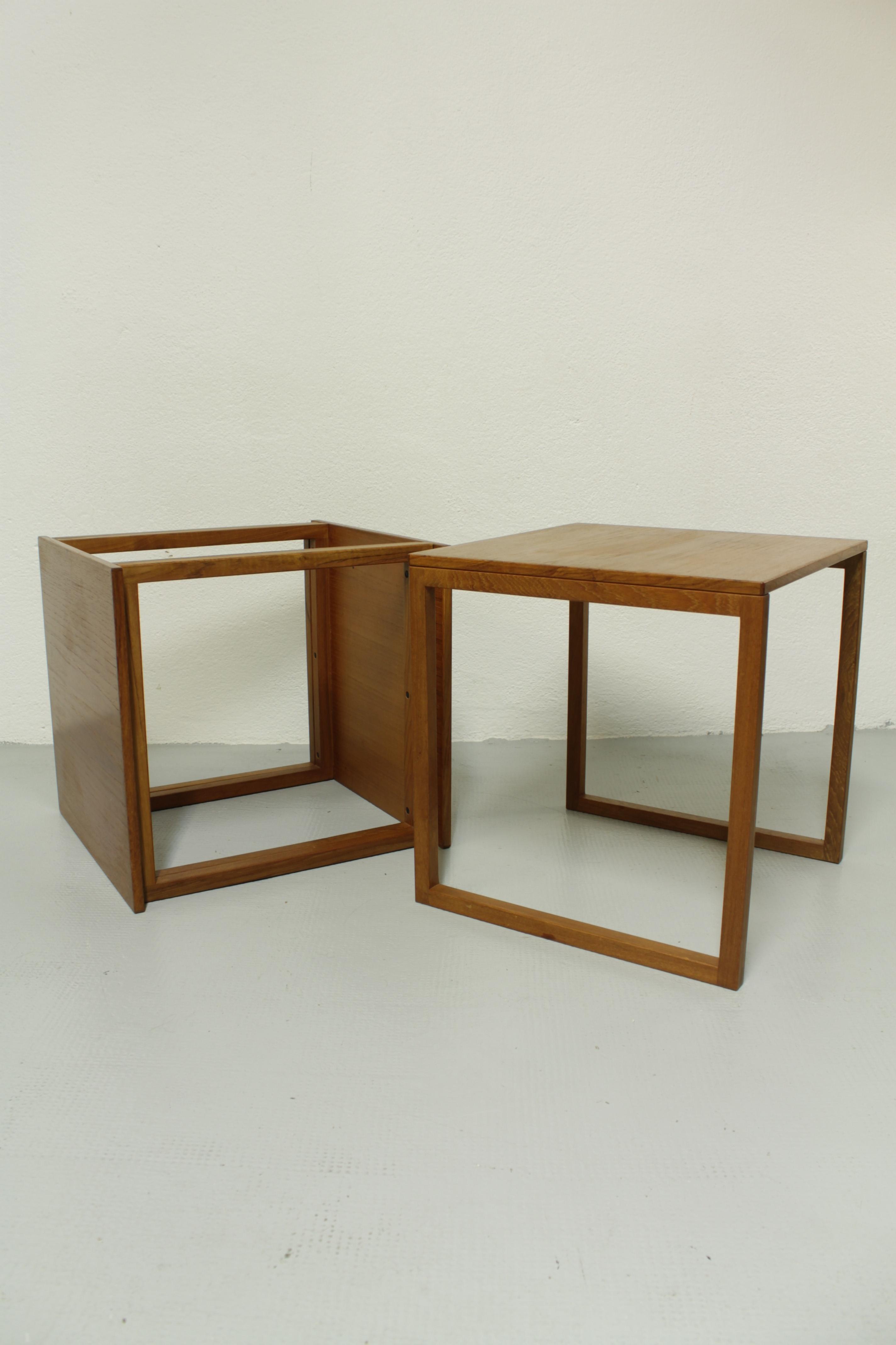 "Kai Kristiansen ""Cube"" Nesting tables"