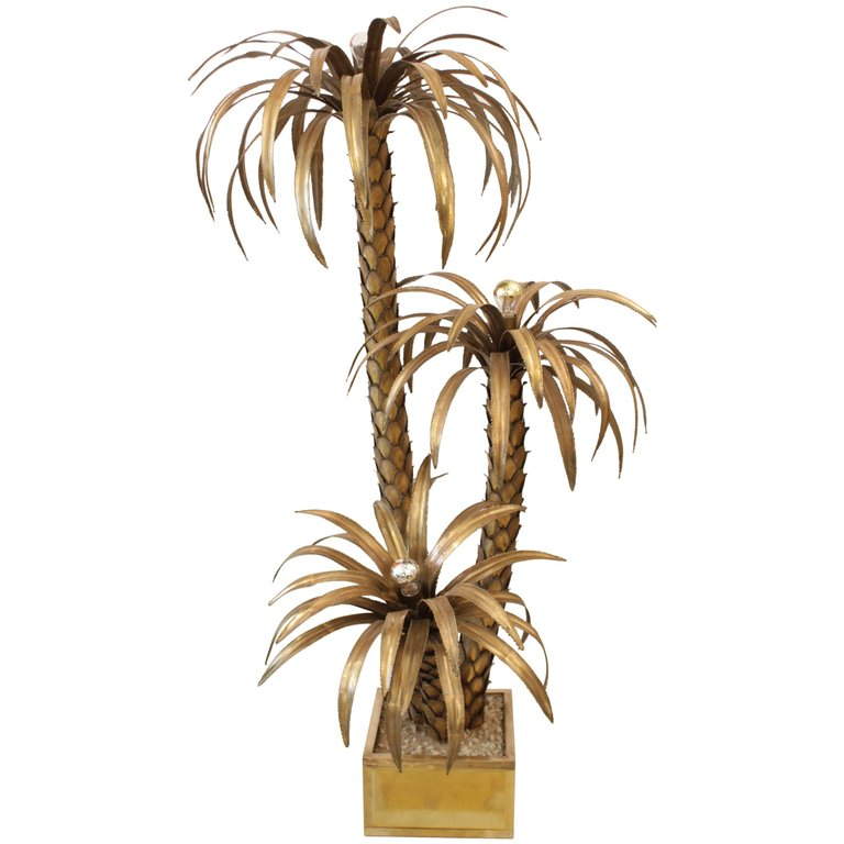 Maison Jansen Palm Tree Lampe
