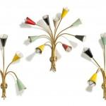 piguet-cb4190lot-500-ensemble-trois-appliques-dans-gout-stilnovo-circa-1950-fut-forme-tiges-supportant-des-diffuseurs-coniques