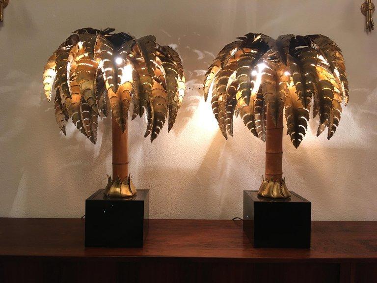Maison Jansen paire de lampe table