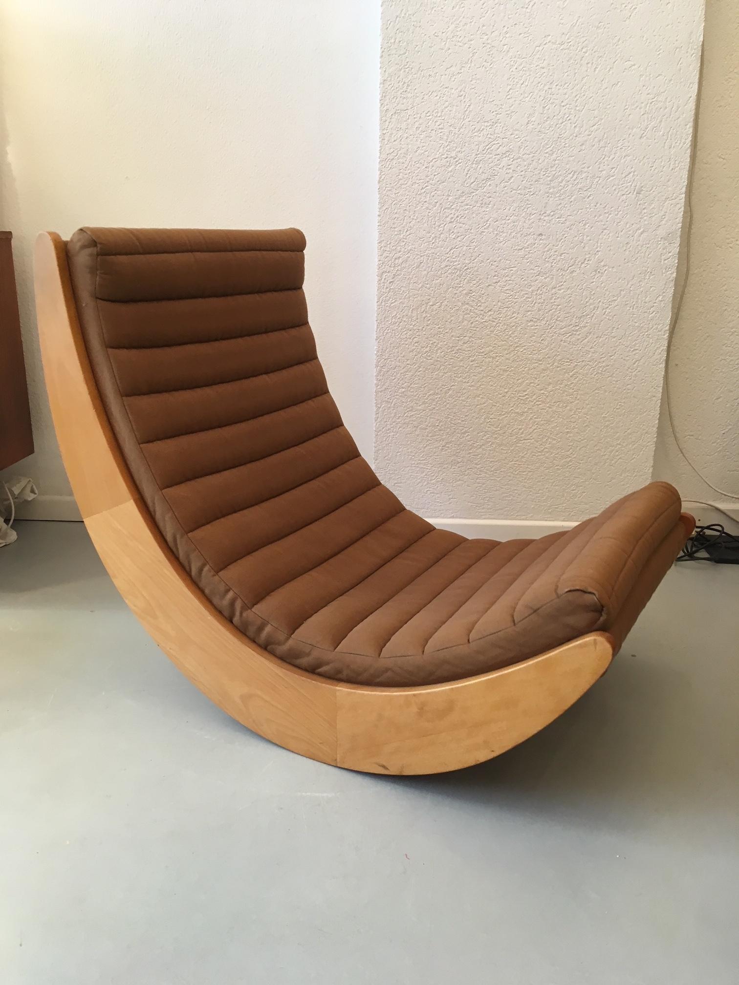 Verner Panton Chaise à Bascule Relaxer