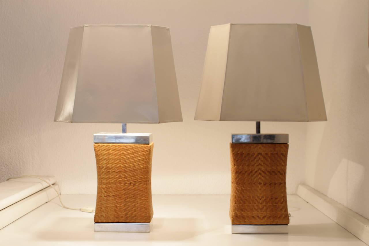 Paire de lampe de table vers 1970