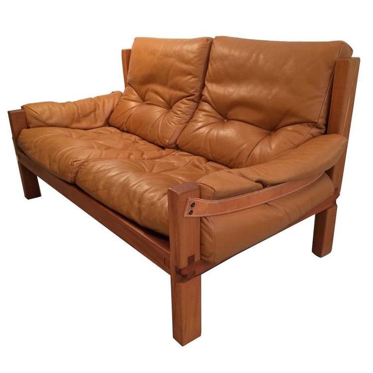 pierre chapo canap cuir et bois s22 les illumin s design. Black Bedroom Furniture Sets. Home Design Ideas