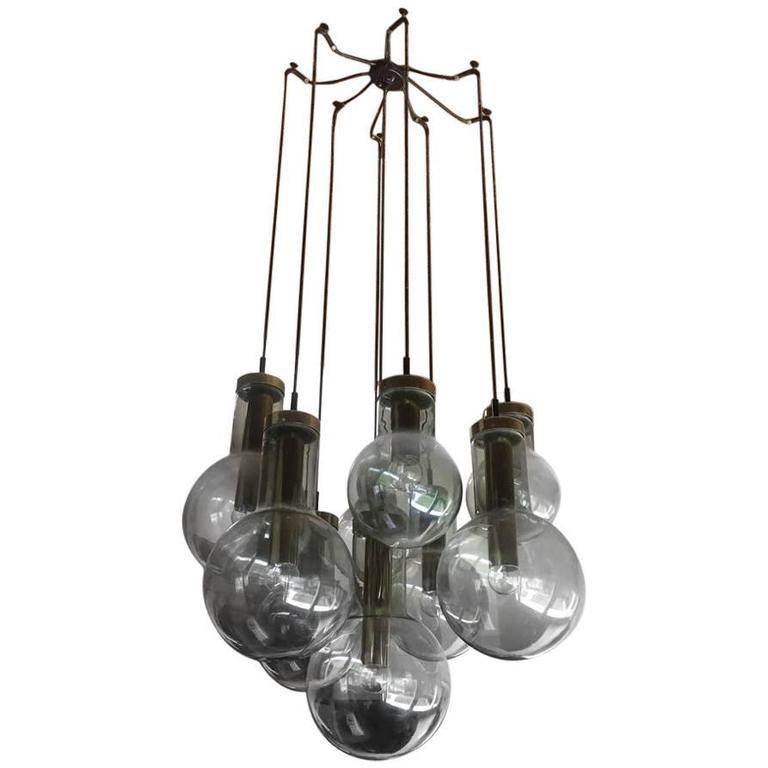 "Maison RAAK ""Bulb"" Grand Chandelier"